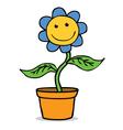 Happy flower cartoon vector image