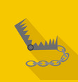 hunting trap flat and cartoon style vector image