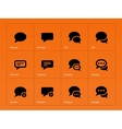 Message bubble icons on orange background vector image