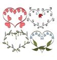 romantic frame Valentines doodle vector image