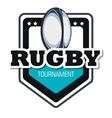 rugby goal tournament emblem graphic vector image