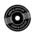 Santa Office rubber stamp vector image