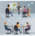Business Teamwork Composition vector image