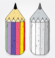 crazy pencils vector image vector image