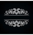 White vintage pattern on dark background vector image