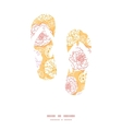 warm day flowers flip flops silhouettes pattern vector image