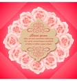 Valentines day card with beautiful roses vector image