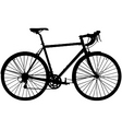 touring bicycle vector image vector image