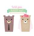 married bear vector image