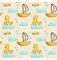 Bubble bath seamless pattern vector image vector image