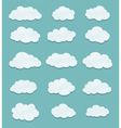 set of lined clouds vector image