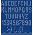 a white knitting alphabet vector image