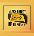 black friday sale banner on orange background vector image