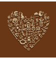 Coffee time heart vector image