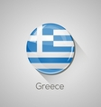 European flags set - Greece vector image
