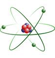 Lithium Atom Model vector image