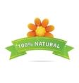 nature and green ribbon sign vector image