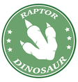 Raptor Dinosaur Paw Print Logo vector image