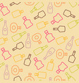 seamless pattern with color wine bottles vector image