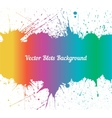 spectrum ink splashes over white vector image