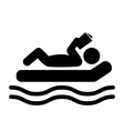 Summer Relax Swim Pictogram Flat People Read Book vector image