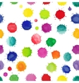 Watercolor seamless pattern with splashes vector image