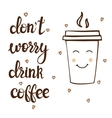 Coffee theme lettering Commercial vector image