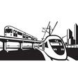 Overground rail transportation vector image vector image