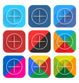 Flat popular social network web icon square button vector image