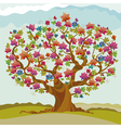 round shape exotic tree blossom vector image vector image