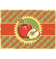 Apples Vintage label on old paper vector image vector image