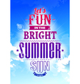 Summer Typography vector image vector image