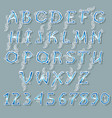 ice blue and white alphabet vector image