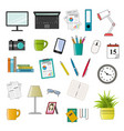 office icon set - vektor flat style vector image vector image