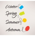 Set of Logos with labels for seasonal sales vector image