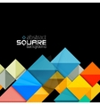 Glossy color squares on black Geometric abstract vector image vector image