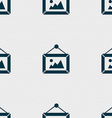 picture icon sign Seamless pattern with geometric vector image