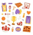 Basketball stickers icons vector image