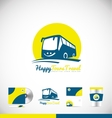 Bus logo icon design vector image