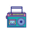 colorful radio equipment to listen music with vector image