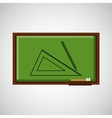 education concept blackboard with geometry vector image