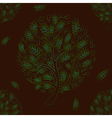 Green Tree on Brown Background vector image