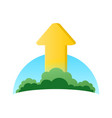 logo of ecology growth vector image