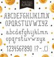 Narrow handdrawn font vector image