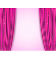 pink theater curtains vector image