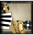 saxophone and piano keys in the form of fingers vector image