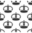 Seamless medieval crowns pattern background vector image