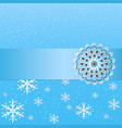 winter background with floral vector image