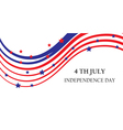 Abstract ribbons flag banner July 4 Independence D vector image