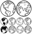doodle globe earth vector image